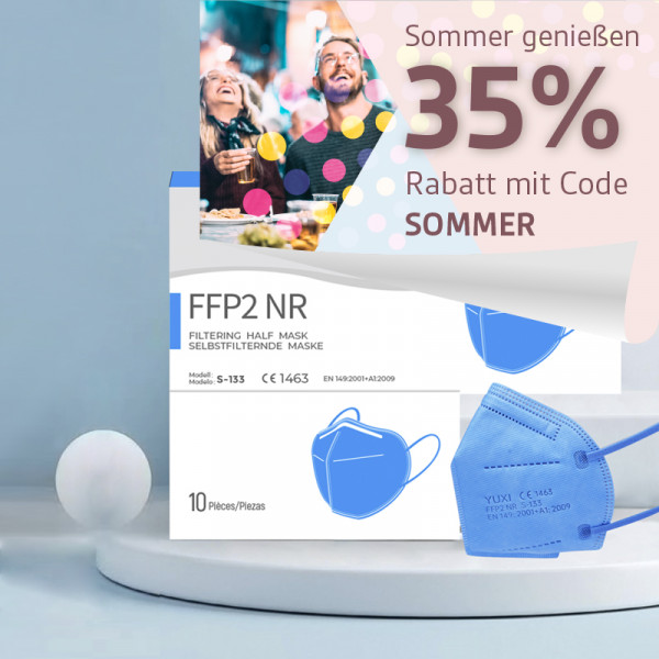 YUXI ® Filtering Half Mask FFP2 NR *hellblau