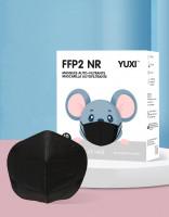 YUXI ® Filtering Half Mask FFP2 NR Kindermaske *Schwarz