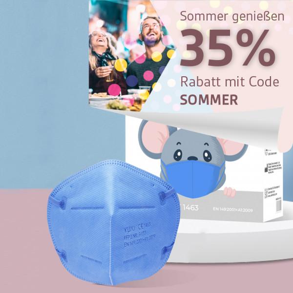 YUXI ® Filtering Half Mask FFP2 NR S für kleine Gesichter z.B Kinder *hellblau