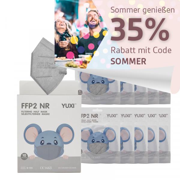 YUXI ® Filtering Half Mask FFP2 NR S Schwarz für kleine Gesichter