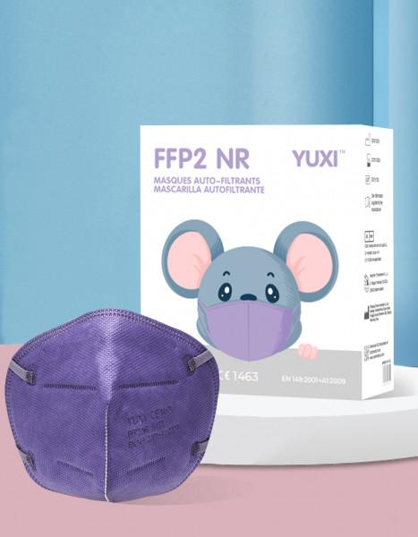 YUXI ® Filtering Half Mask FFP2 NR Kindermaske *Lila