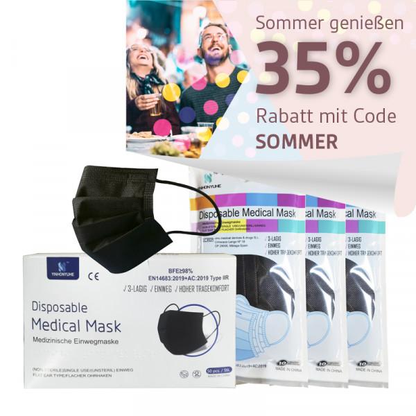 YINHONYUHE ® Disposable Medical Mask schwarz