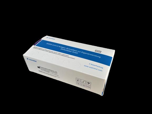 SARS-CoV-2 Antigen Schnelltest zur Eigenanwendung (kolloidales Gold)