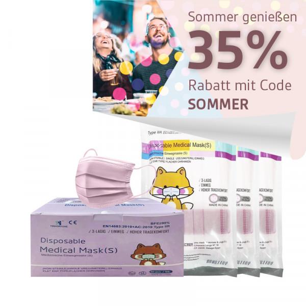 YINHONYUHE ® Disposable Medical Mask für kleine Gesichter z.B Kinder rosa